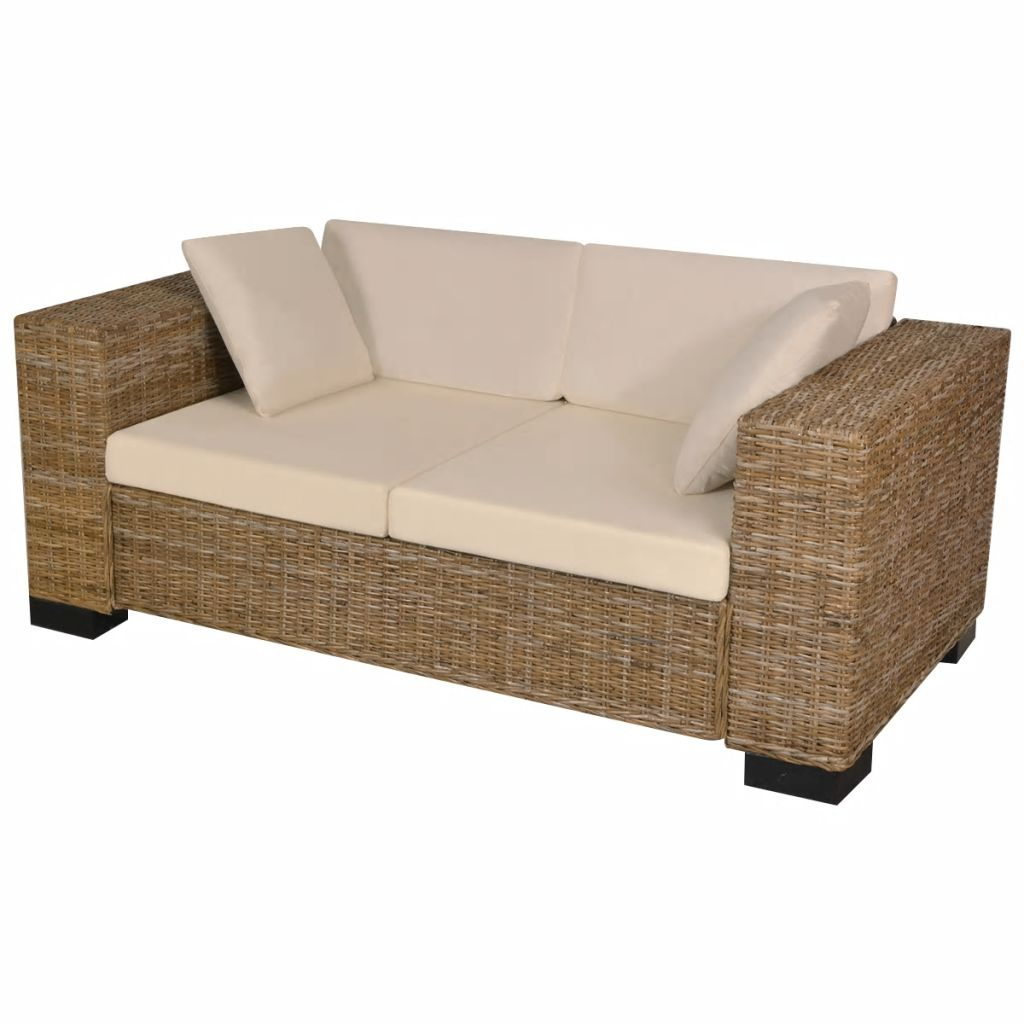 Seven Piece 2-Seater Sofa Set Real Rattan