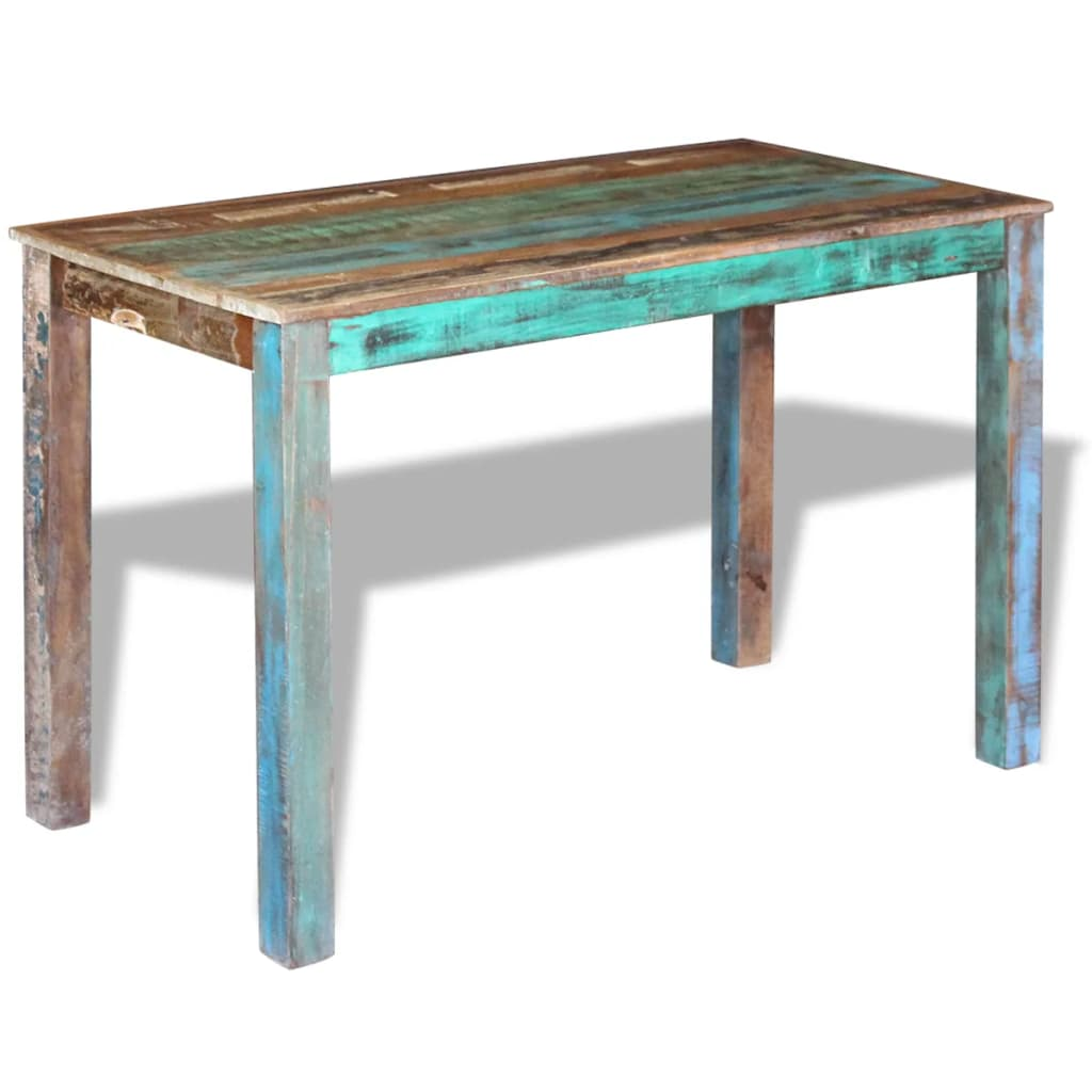 Dining Table Solid Reclaimed Wood 115x60x76 cm 2