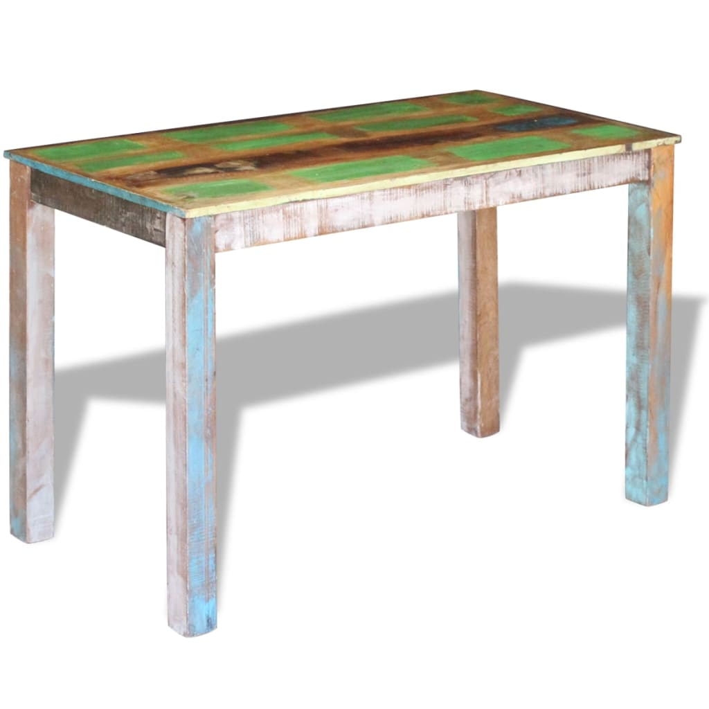 Dining Table Solid Reclaimed Wood 115x60x76 cm 3