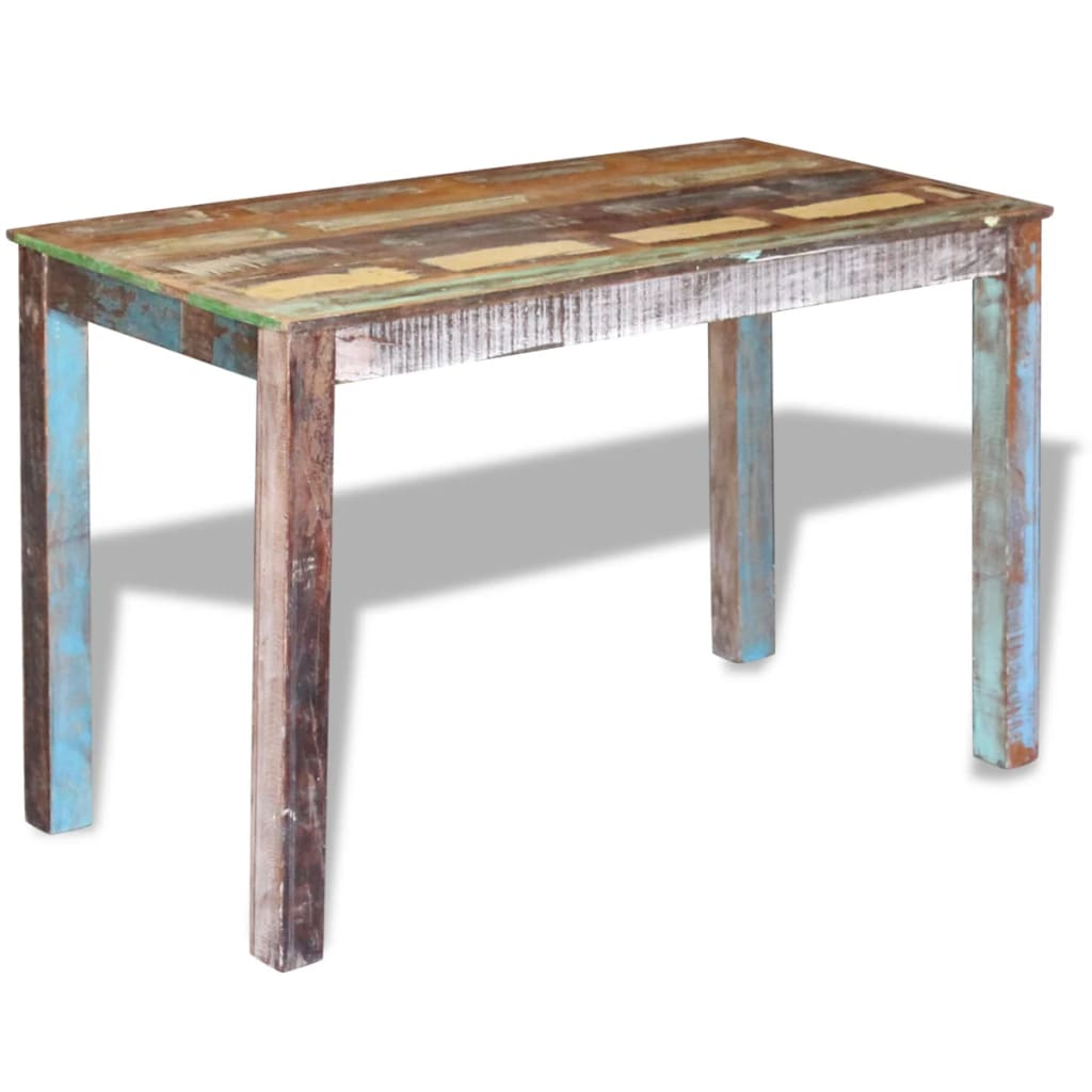 Dining Table Solid Reclaimed Wood 115x60x76 cm 5