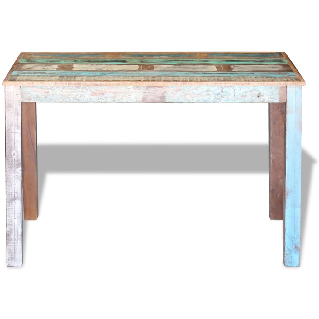Dining Table Solid Reclaimed Wood 115x60x76 cm 6