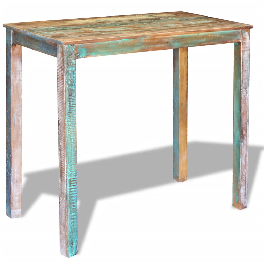 Bar Table Solid Reclaimed Wood 115x60x107 cm 5