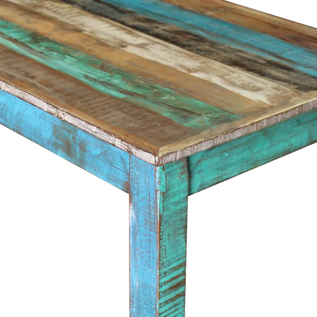 Bar Table Solid Reclaimed Wood 115x60x107 cm 7