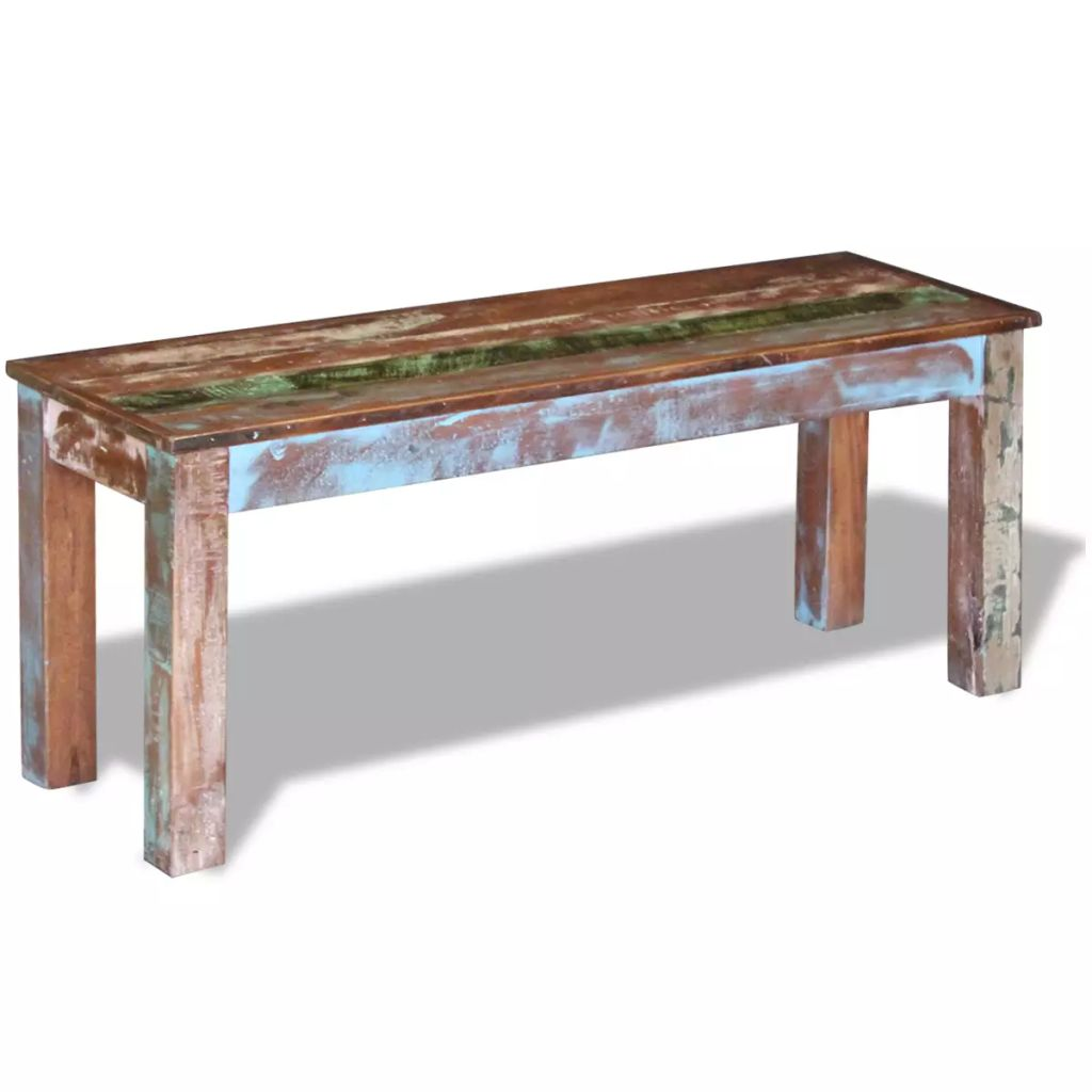 Bench Solid Reclaimed Wood 110x35x45 cm 3