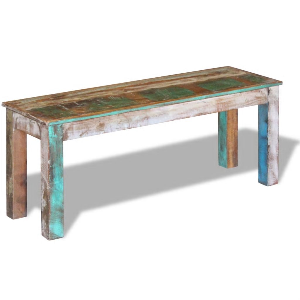 Bench Solid Reclaimed Wood 110x35x45 cm 4