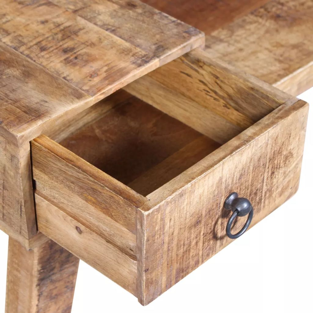 Bench with Drawer Solid Mango Wood 120x36x60 cm 8