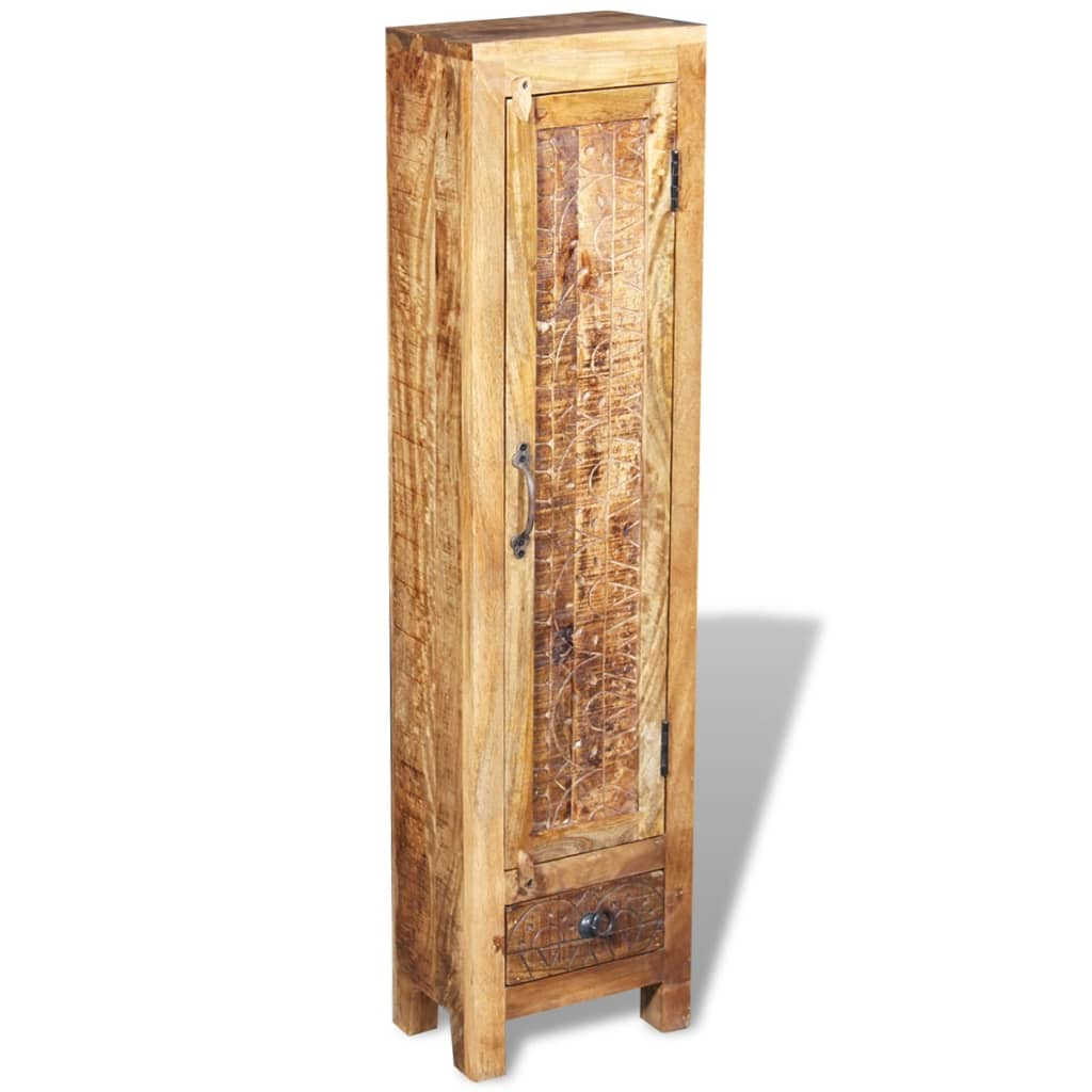 Vanity Cabinet with Mirror and 2 Side Cabinets Solid Mango Wood 6