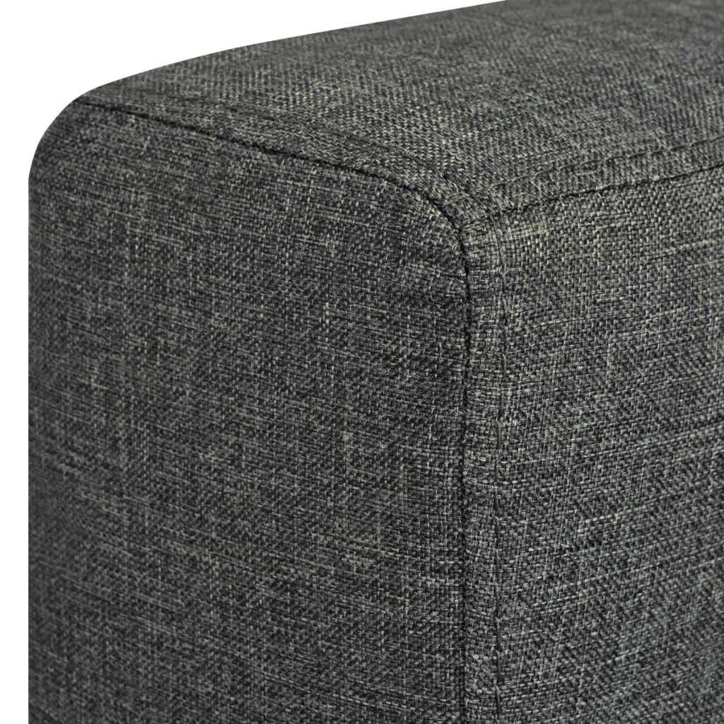 2-Seater Sofa Fabric Dark Grey 6