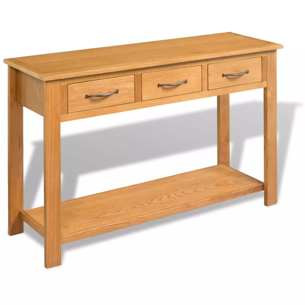 Console Table 118x35x77 cm Solid Oak Wood