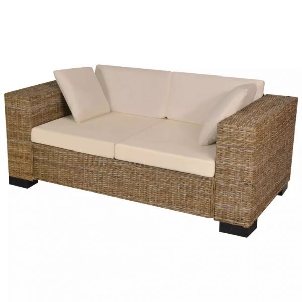 2-Seater and 3-Seater Sofa Set Real Rattan 4