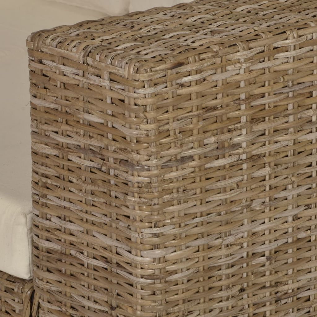 2-Seater and 3-Seater Sofa Set Real Rattan 7