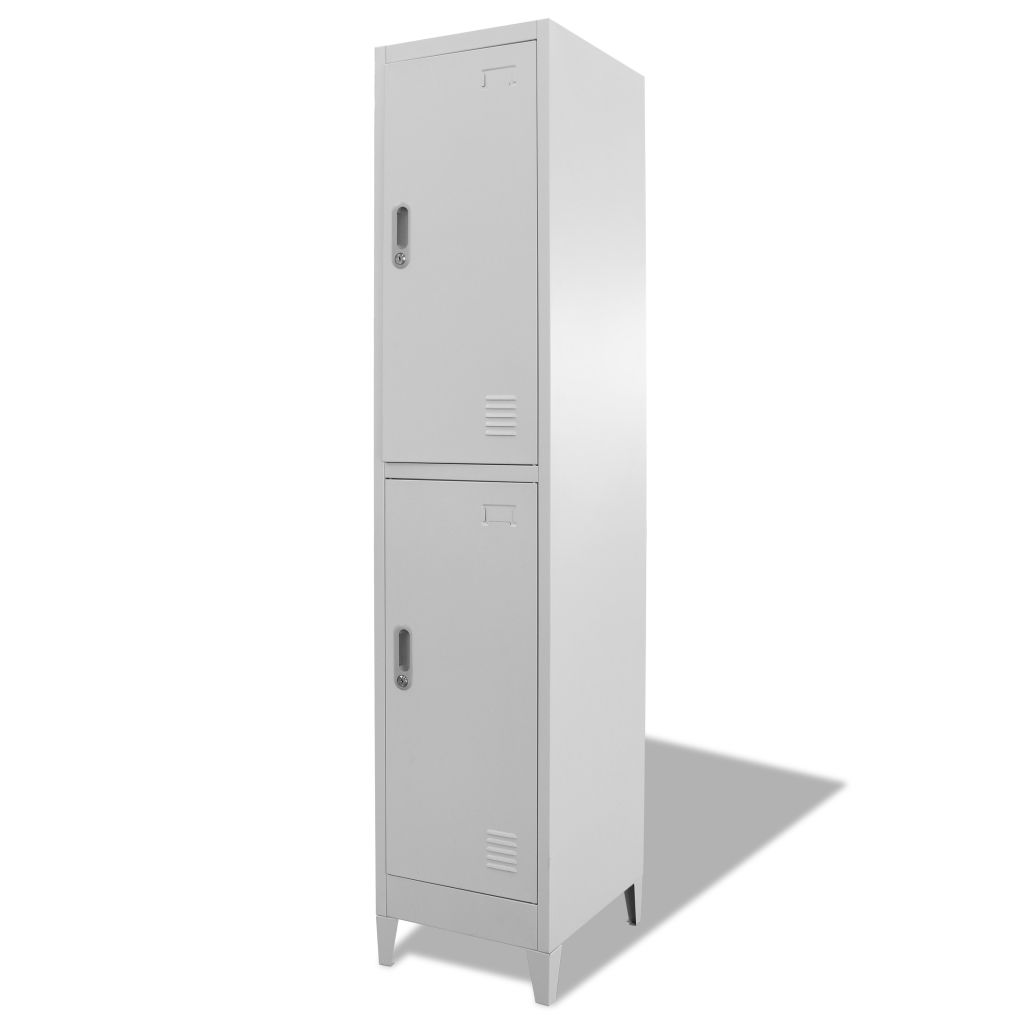 Locker Cabinet with 2 Compartments 38x45x180 cm 3