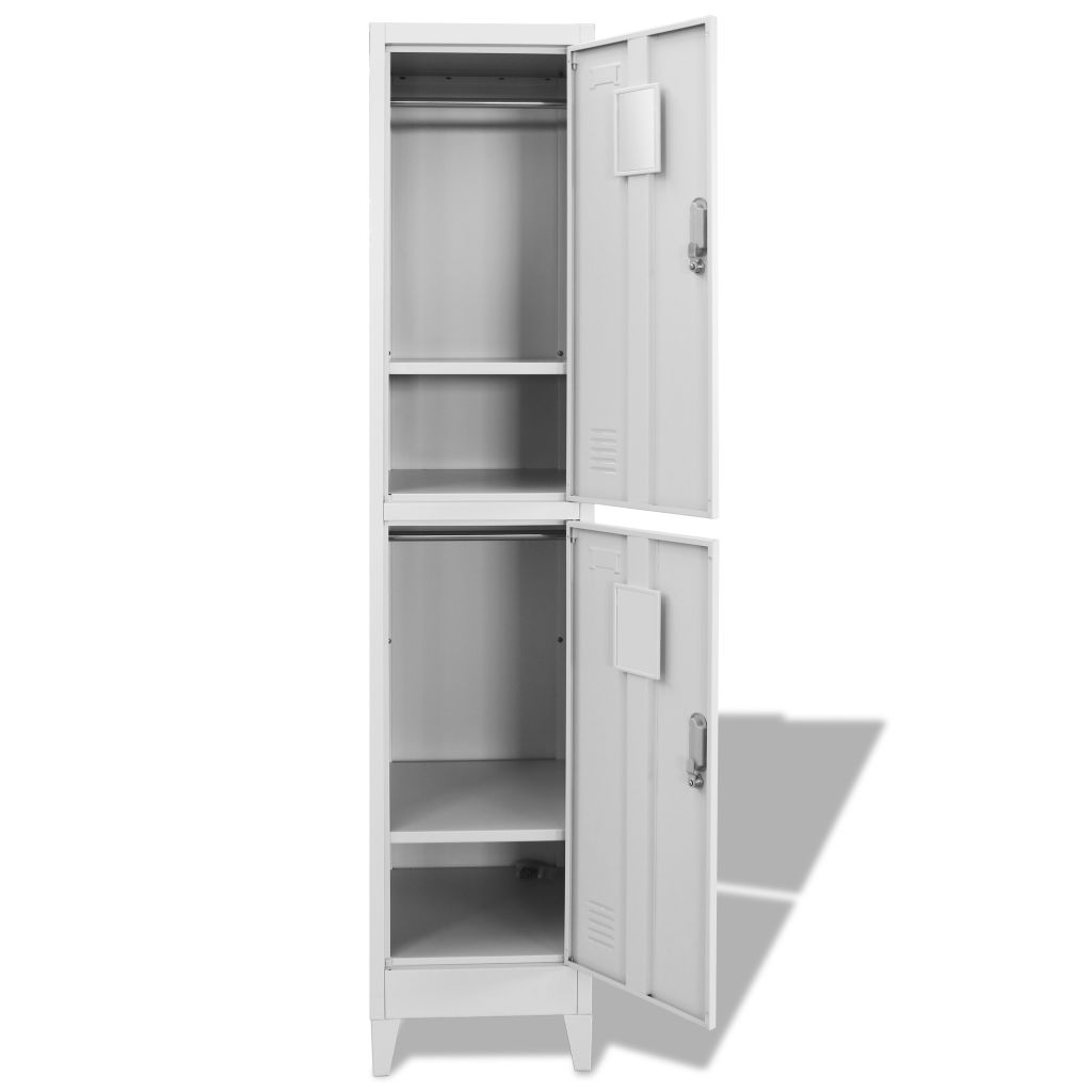 Locker Cabinet with 2 Compartments 38x45x180 cm 4