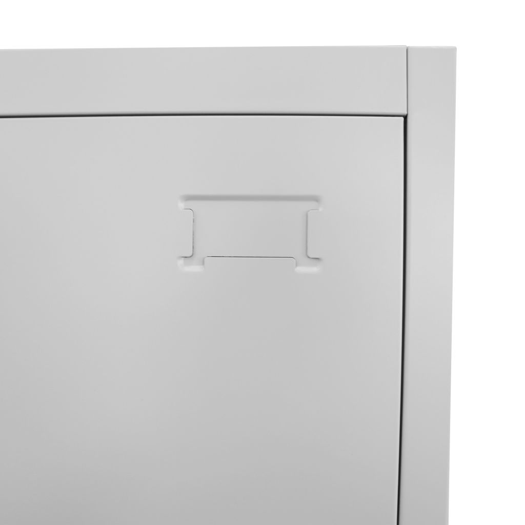 Locker Cabinet with 2 Compartments 38x45x180 cm 6