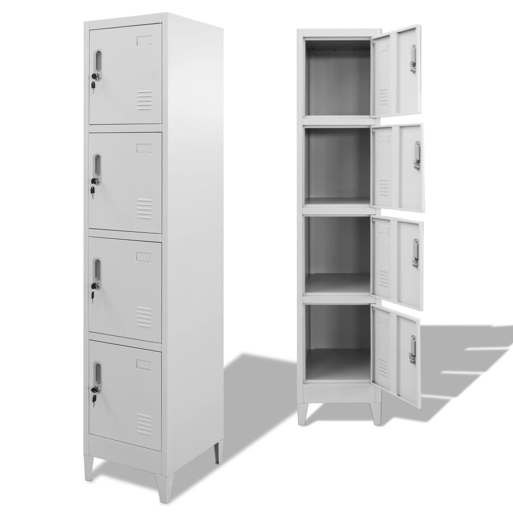 Locker Cabinet with 4 Compartments 38x45x180 cm