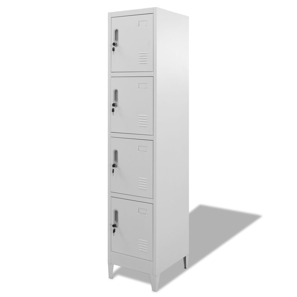 Locker Cabinet with 4 Compartments 38x45x180 cm 2