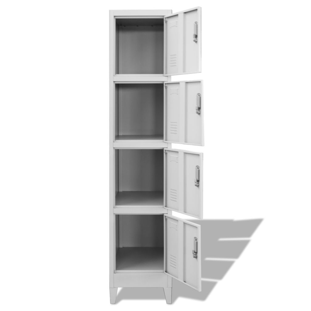 Locker Cabinet with 4 Compartments 38x45x180 cm 3