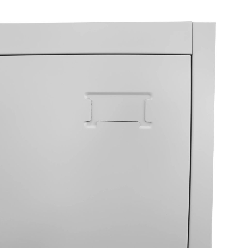 Locker Cabinet with 12 Compartments 90x45x180 cm 5