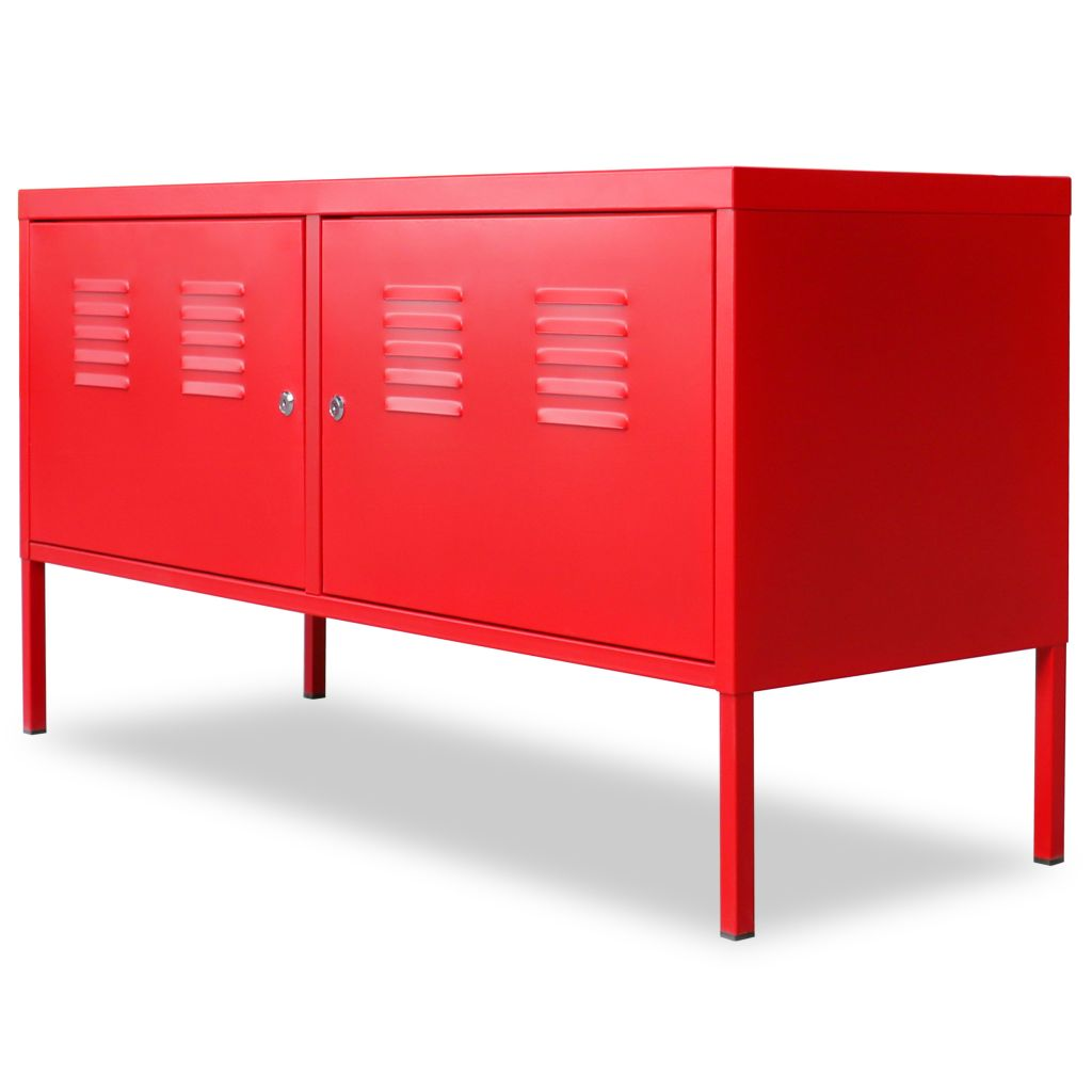TV Cabinet 118x40x60 cm Red 3