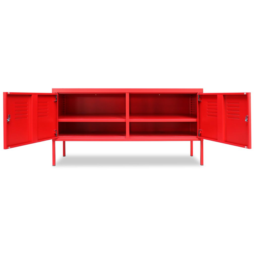 TV Cabinet 118x40x60 cm Red 4