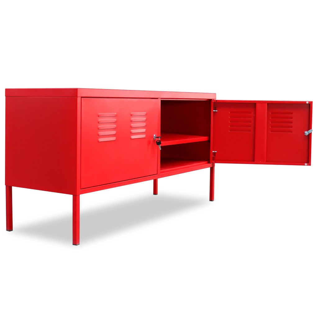 TV Cabinet 118x40x60 cm Red 5