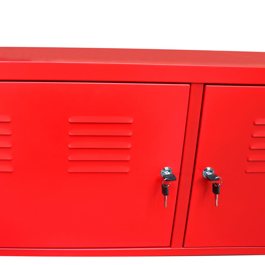 TV Cabinet 118x40x60 cm Red 6