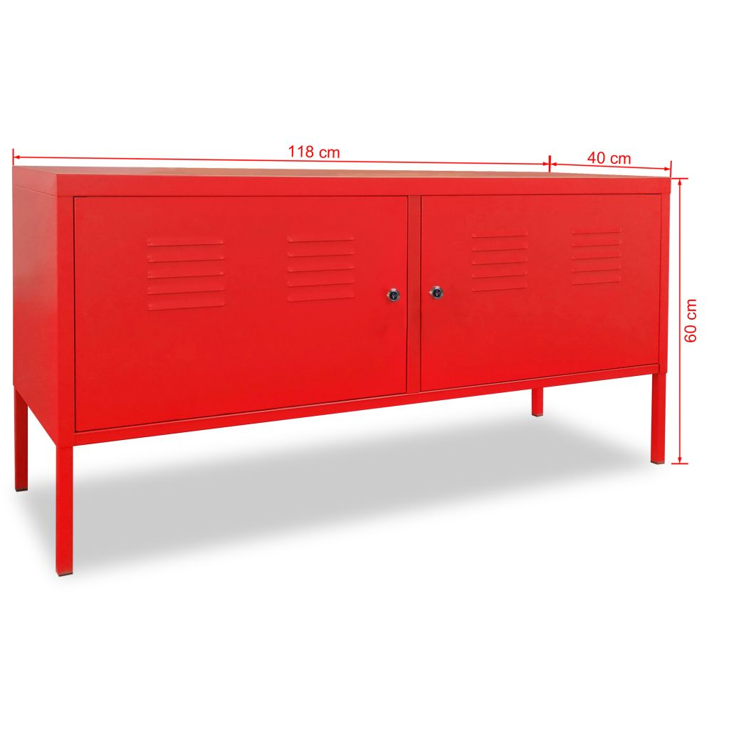 TV Cabinet 118x40x60 cm Red 9