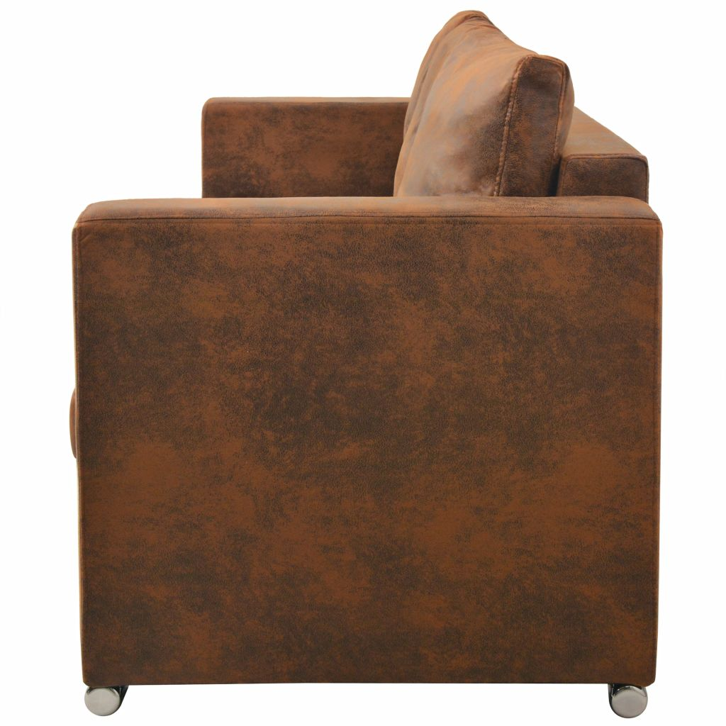 3-Seater Sofa 191x73x82 cm Artificial Suede Leather 3