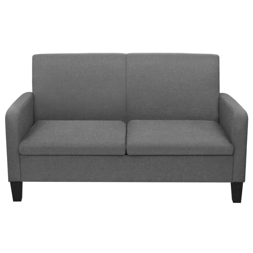 2-Seater Sofa 135x65x76 cm Dark Grey 2