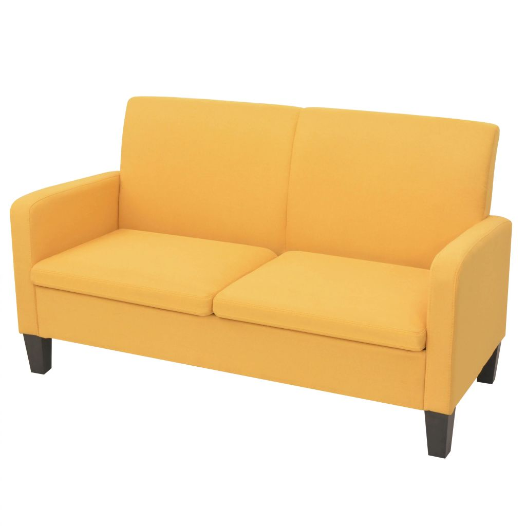 2-Seater Sofa 135x65x76 cm Yellow
