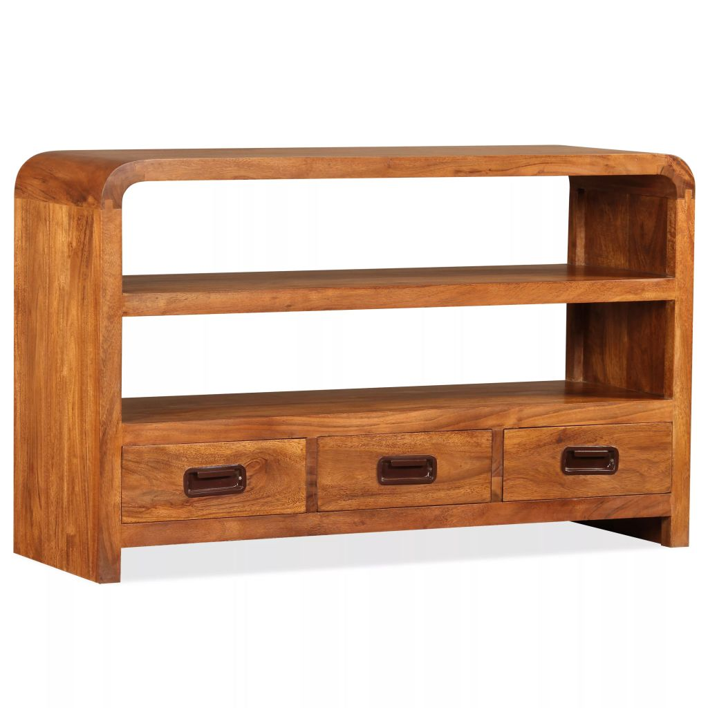 TV Cabinet 90x30x55 cm Solid Wood with Sheesham Finish 1