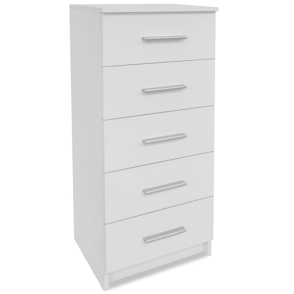 Tall Chest of Drawers Chipboard 41x35x108 cm White 2