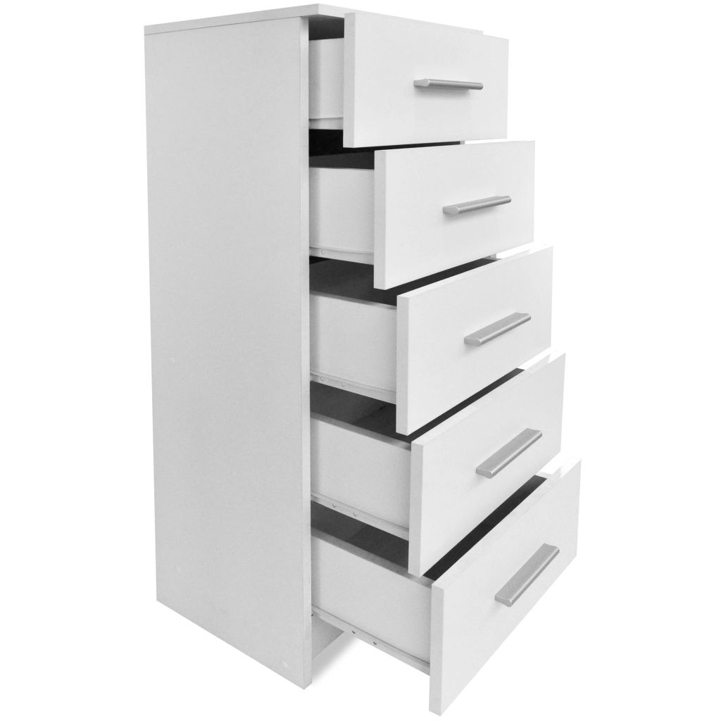 Tall Chest of Drawers Chipboard 41x35x108 cm White 5