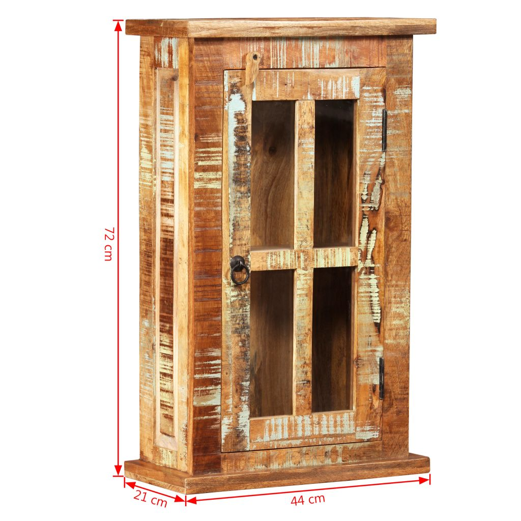 Wall Cabinet Solid Reclaimed Wood 44x21x72 cm 11