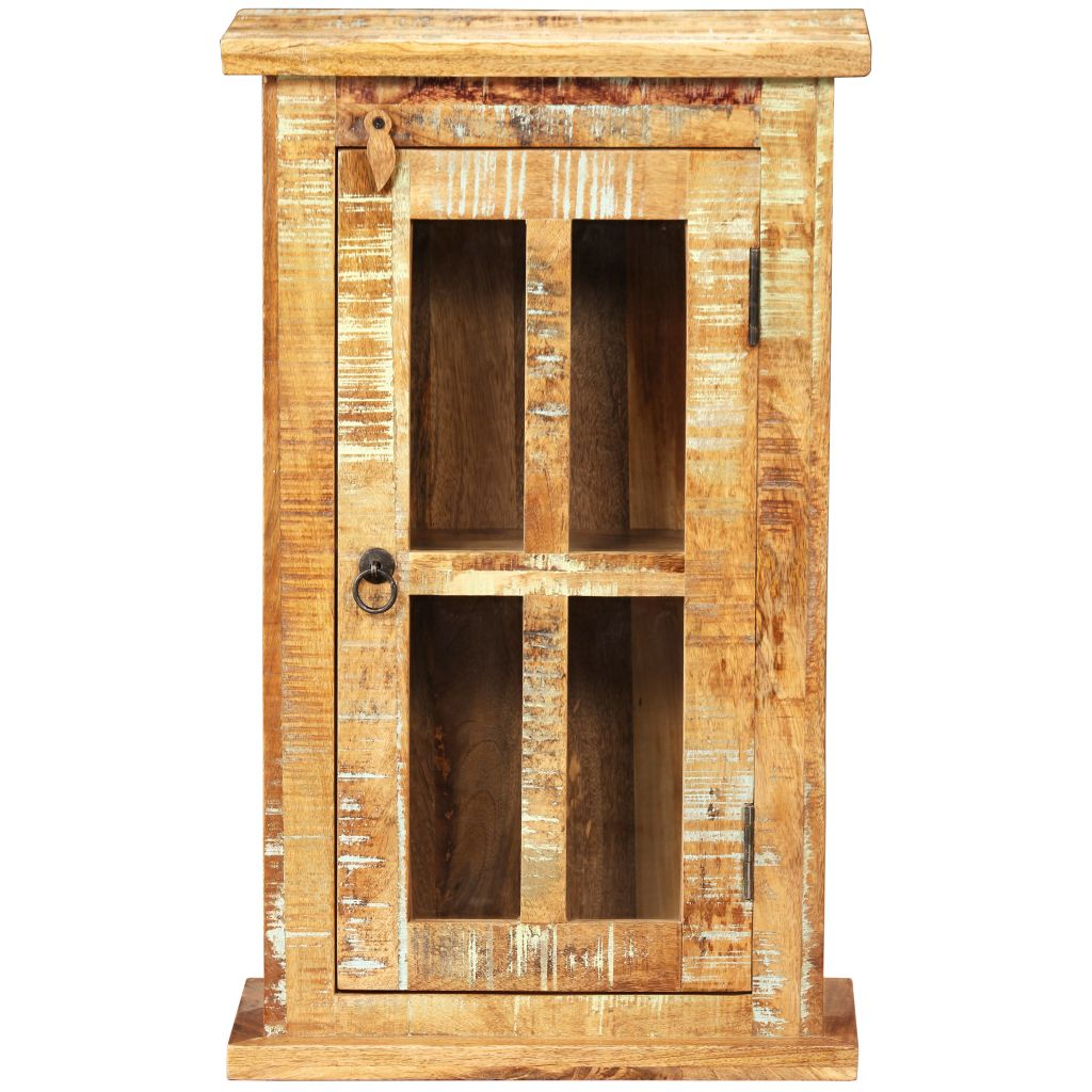 Wall Cabinet Solid Reclaimed Wood 44x21x72 cm 4