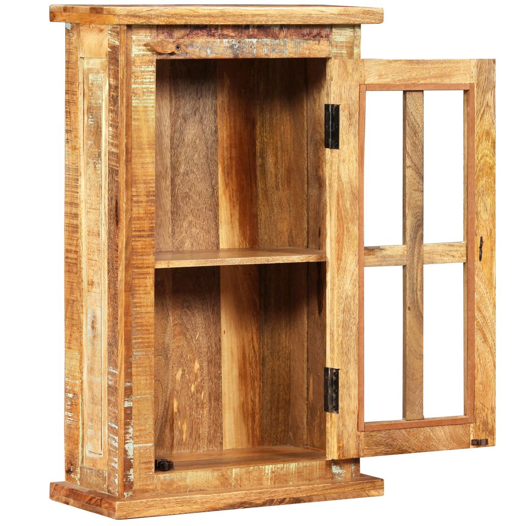 Wall Cabinet Solid Reclaimed Wood 44x21x72 cm 5