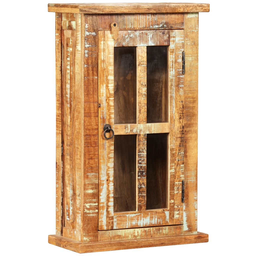 Wall Cabinet Solid Reclaimed Wood 44x21x72 cm 8