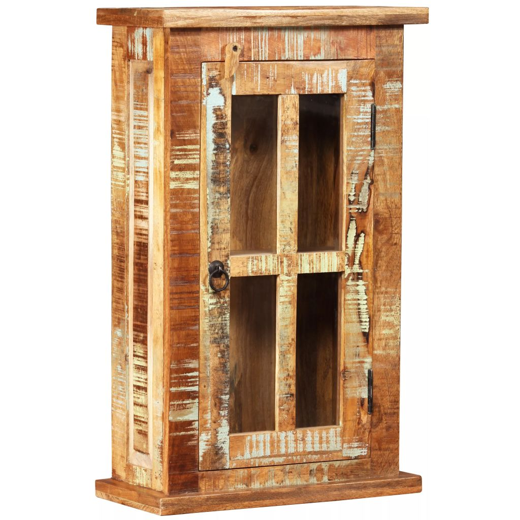 Wall Cabinet Solid Reclaimed Wood 44x21x72 cm 9
