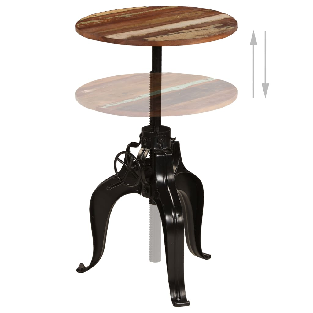 Bar Table Solid Reclaimed Wood 60x(76-110) cm 3