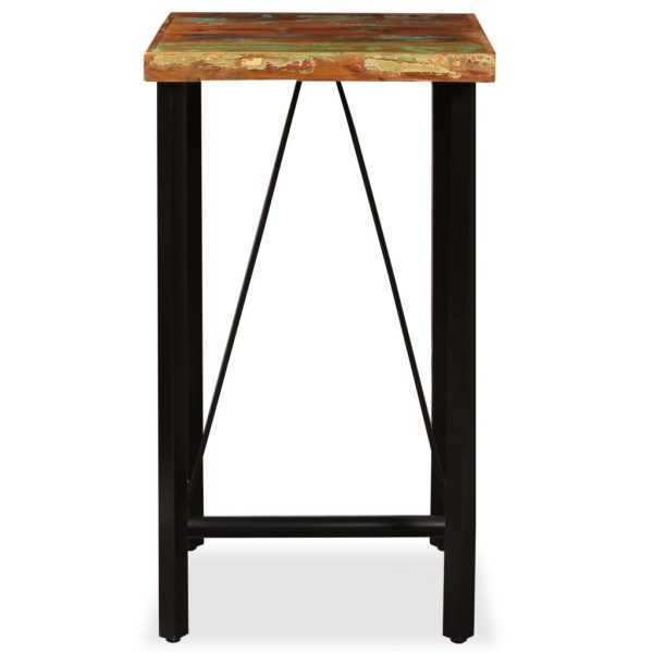 Bar Table 60x60x107 cm Solid Reclaimed Wood 2