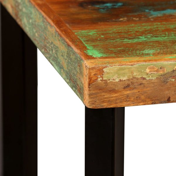 Bar Table 60x60x107 cm Solid Reclaimed Wood 3