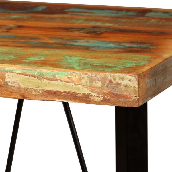 Bar Table 60x60x107 cm Solid Reclaimed Wood 4