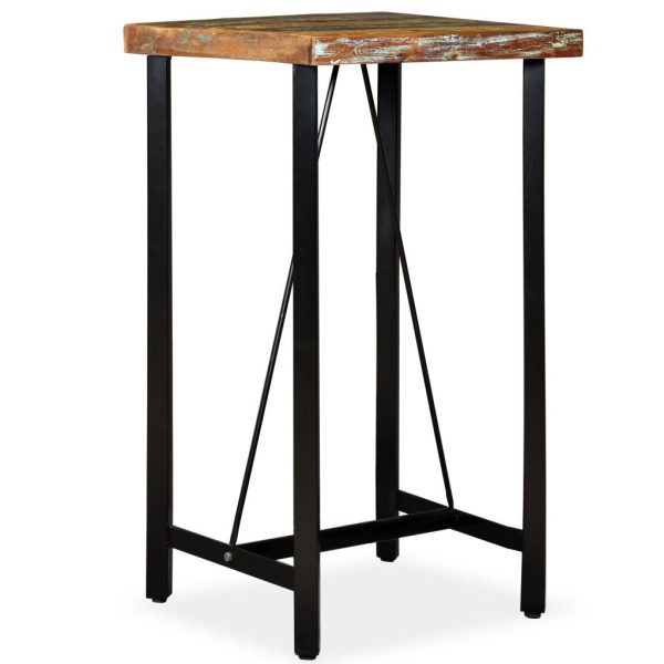 Bar Table 60x60x107 cm Solid Reclaimed Wood 7