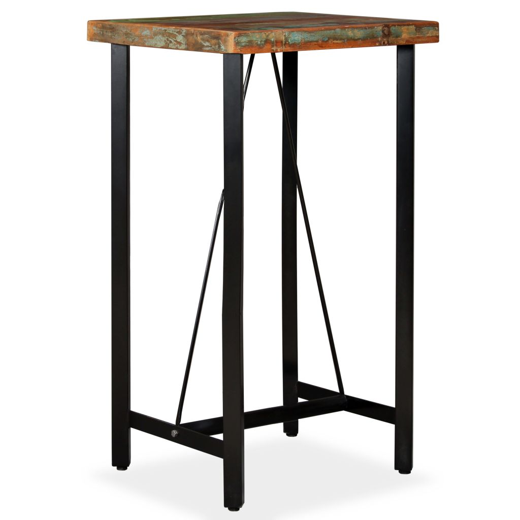 Bar Table 60x60x107 cm Solid Reclaimed Wood 8