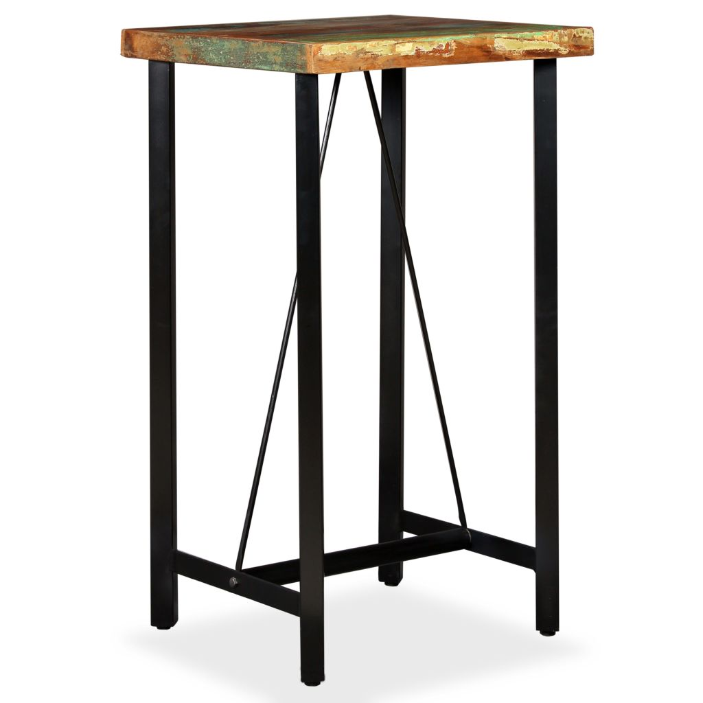 Bar Table 60x60x107 cm Solid Reclaimed Wood 9