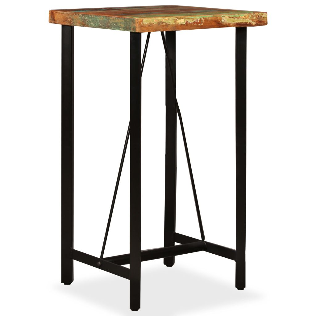 Bar Table 60x60x107 cm Solid Reclaimed Wood 10