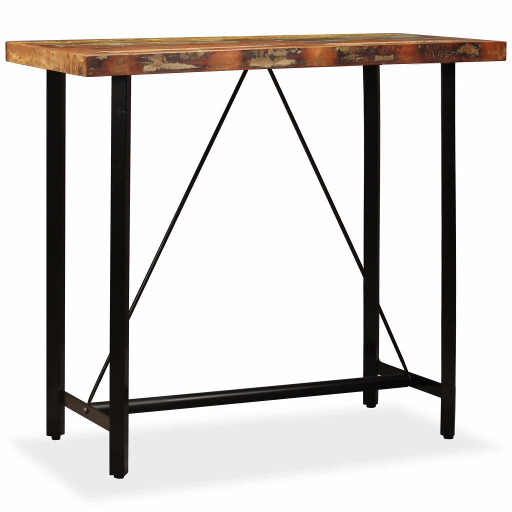 Bar Table 120x60x107 cm Solid Reclaimed Wood 11
