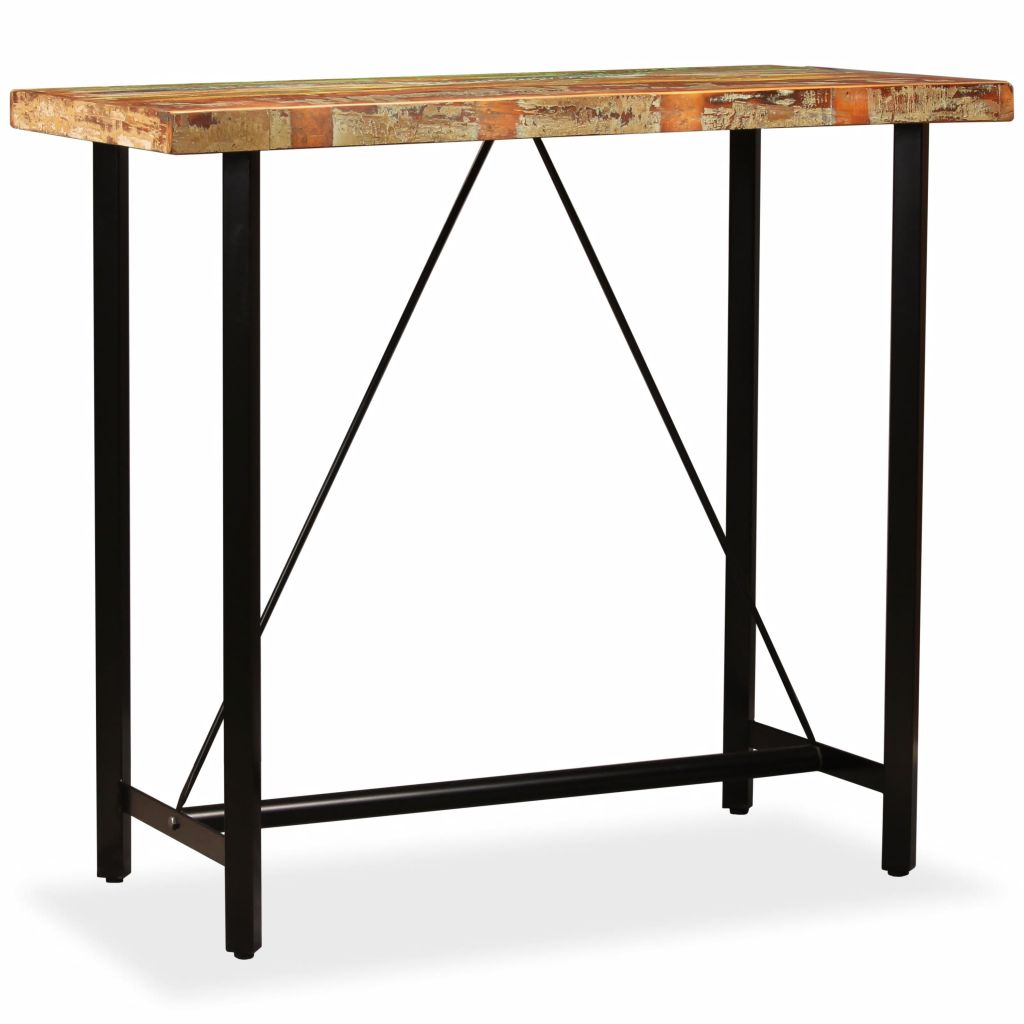 Bar Table 120x60x107 cm Solid Reclaimed Wood 8