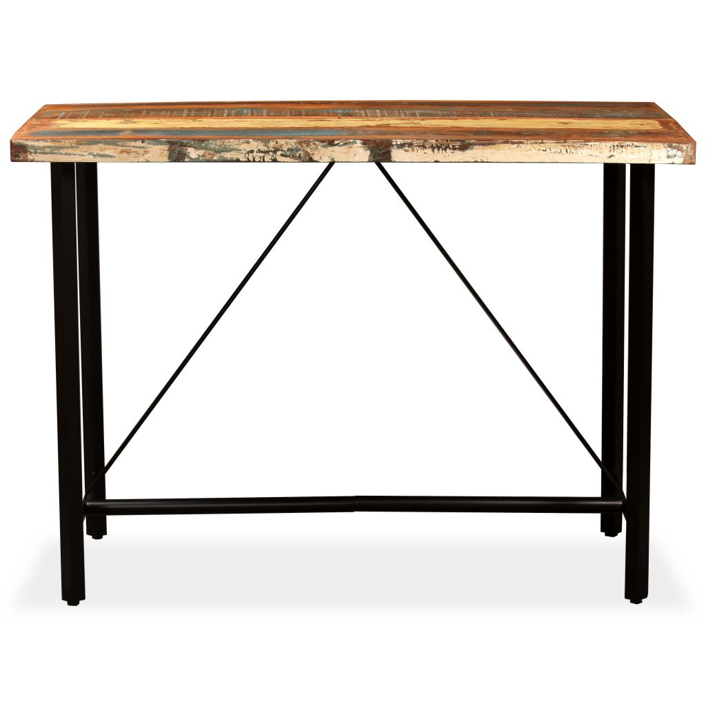 Bar Table 150x70x107 cm Solid Reclaimed Wood 2