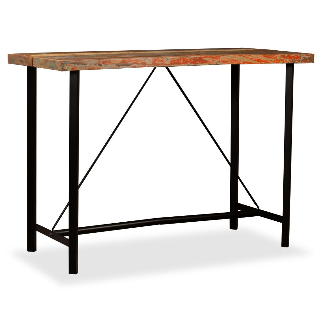Bar Table 150x70x107 cm Solid Reclaimed Wood 9